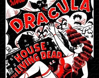 Dracula Vampire Vintage Poster T-Shirt