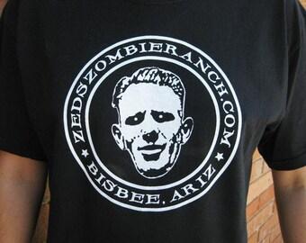 Zombie Shirt - Zed's Zombie Ranch Logo T-shirt