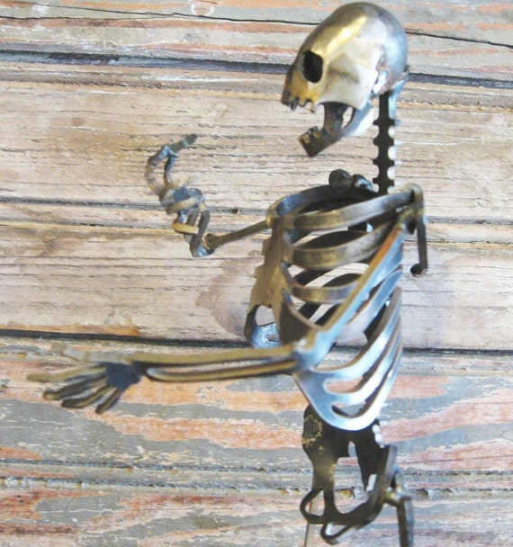 Zombie Skeleton Conversationalist Steel Sculpture
