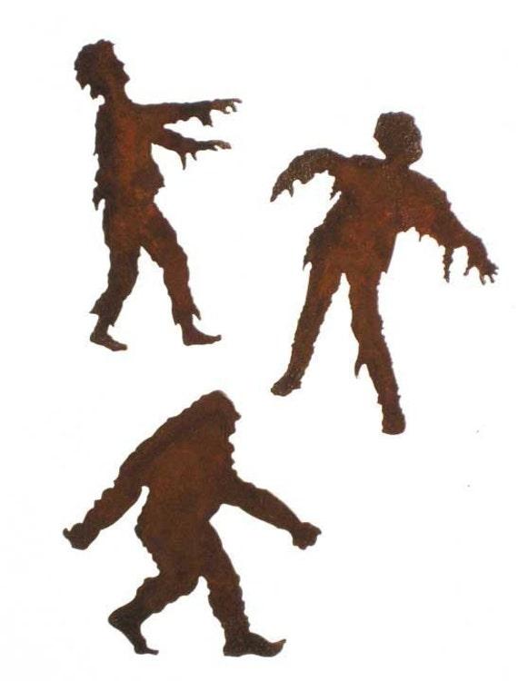 Creepy Refrigerator Magnets Zombie Bigfoot Set of 3 FREE SHIPPING