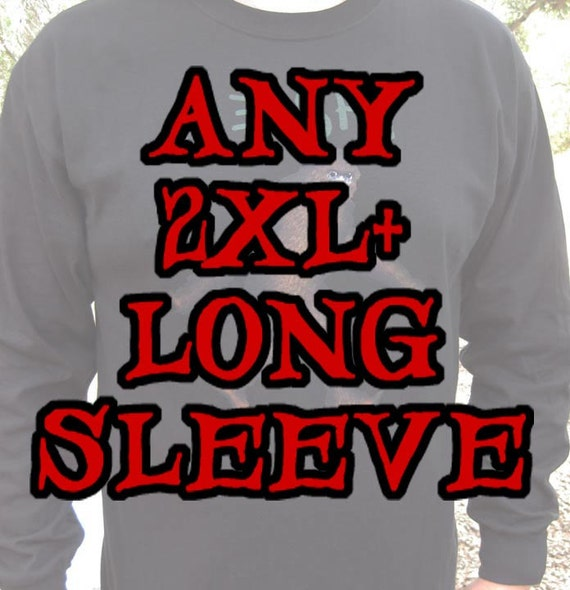LONG SLEEVE 2XL and larger Zed's Zombie Ranch T-shirt - Any Design