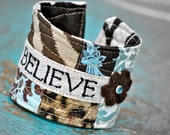 BELIEVE wrist truth in brown and turquoise...