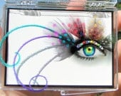 Feather False Eyelashes - Speckled Crystal Rainbow - Eyelash Jewelry