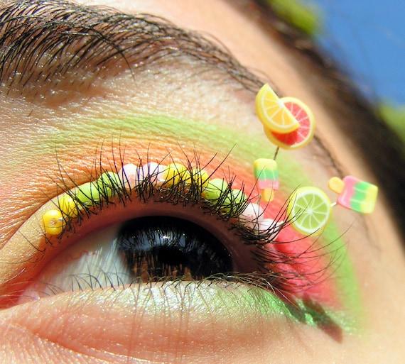 Summer Citrus Popsicle Eyelash Jewelry