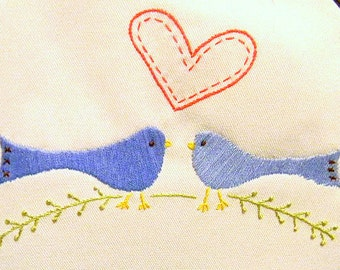 Love Birds Pattern Pack -- 3 Different designs --- Hand Embroidery Patterns -in PDF Format.