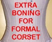 Extra Boning for Formal Corset - 1 Set of 4 Bones