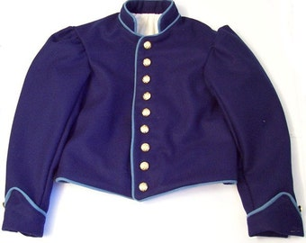 Civil War Mens Union Infantry Wool Shell Jacket Size 36 Handmade