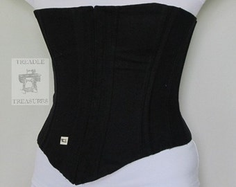 Mourning Corset with Grommets Civil War Era Custom Order