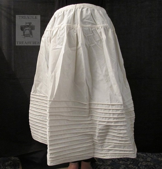 Rope Hoop Skirt / Corded Petticoat - 78 inch circumference - natural or mourning - custom made