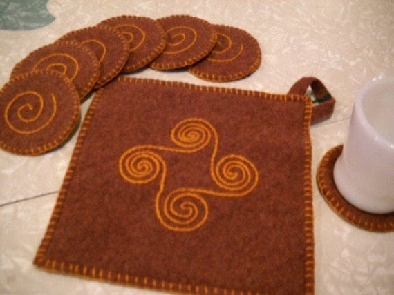 Pot Holder and Coaster Set
