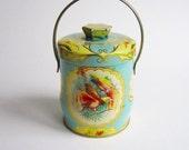 Blue Candy Tin- Vintage English 1940s
