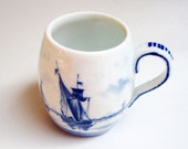 Blue and White Delft Style Cup from Germany- Vintage and Dainty