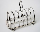 Antique Victorian Toast Rack -Silver Plate- For Toast, Letters, Thin Books.....