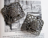 Shoe Buckles- Rare Cut Steel Antique from Roaring 20s