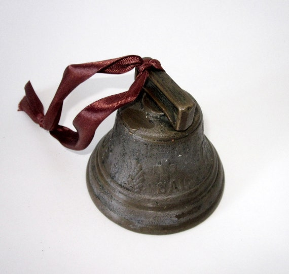 Antique Swiss Cow Bell Chaintel Saignelegier 1878 By