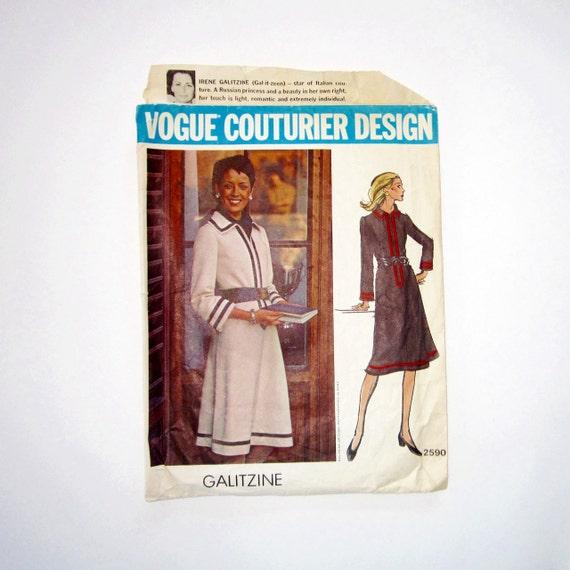 Vogue Couturier Pattern-Galtizine Design- RESERVED  for v.v.