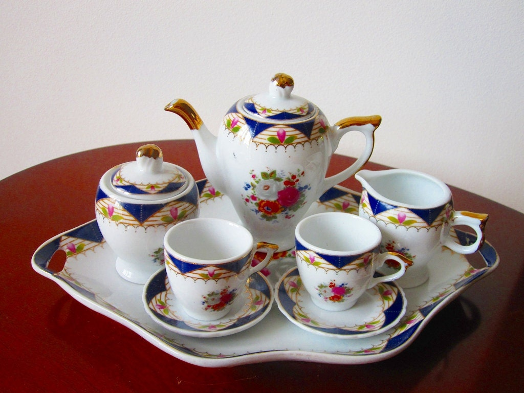 Mini Tea Set 10 Piece Adeline Collection By Latrouvaille