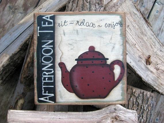 Handpainted Afternoon Tea Sign