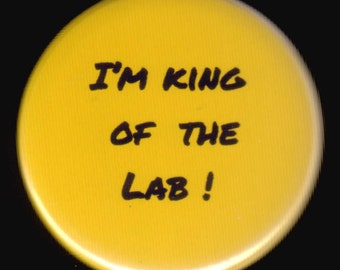 King of the Lab Button