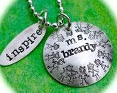 Teacher Appreciation Personalized Charms Necklace
