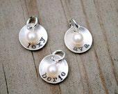 Petite Personalized Sterling Silver Charms