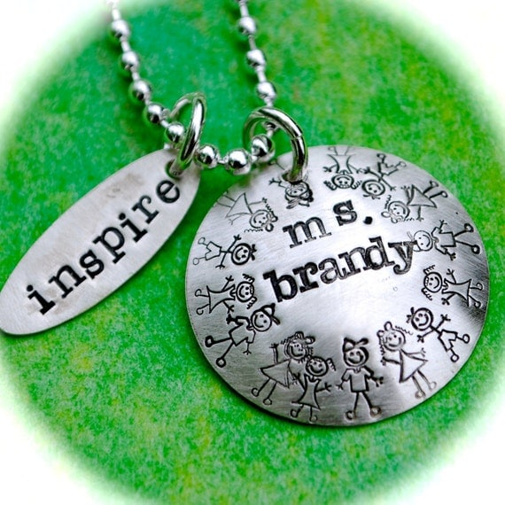 Teacher Appreciation Personalized Charms Necklace