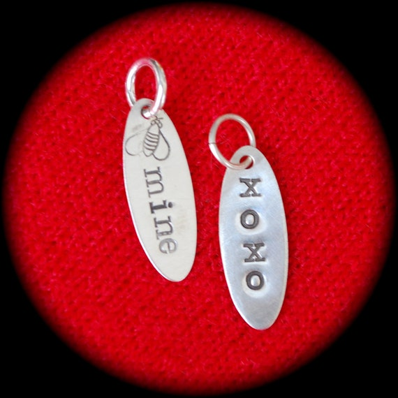 Oval Sterling Silver Personalized Charms