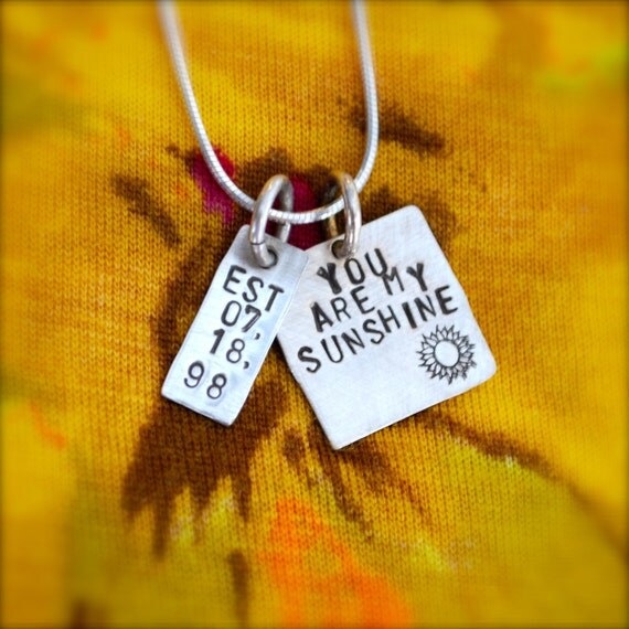 You are my Sunshine Sterling Silver Personalized Charms Necklace