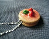Double Layer Strawberry Cake Necklace: Re Listed