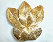 Gold Wire Flower Brooch, Unusual, Beautiful