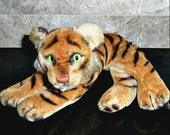 GENUINE Steiff Tiger, Vintage 1950s, Great Condition, Handsome Collectible