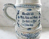 Very Old German Beer Stein, Unusual and Collectible for Bar or Man Cave