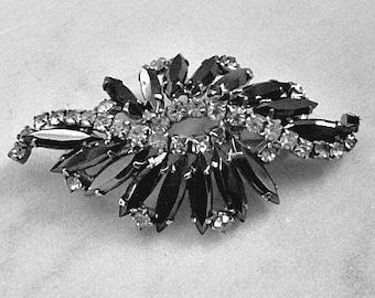 Marcasite and Faux Diamond Lapel Pin, Elegant