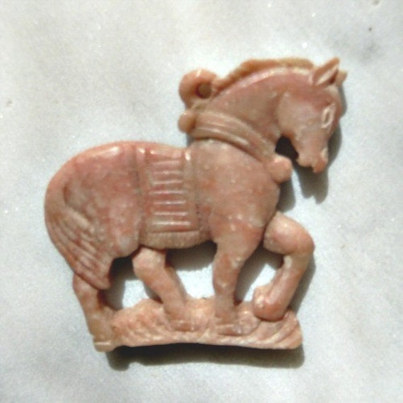 Highly Detailed Carved Horse Pendant, Beautiful,1980s