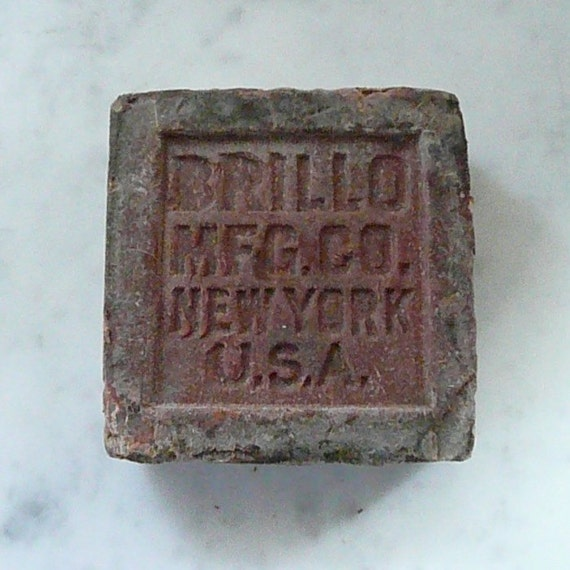 The Original BRILLO SOAP -- from the 1940s or Before, Unique Collectible, So Unusual and a Great Conversation Piece