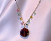 Pink Sparkle Chinese Crystal Necklace, Ready to Ship, Gift under 20