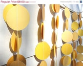 Leap Year SALE Paper Circle Garland, Yellow Colorway, Wedding, Shower & Party Decoration