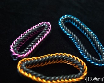 Custom Color Stretchy Half-Persian Chain Mail Bracelet
