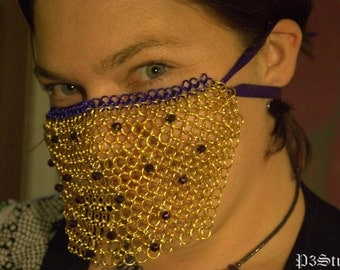 Custom Made Chainmaille Veil with Beads