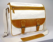 Metro Messenger Bag in Canvas and Leather