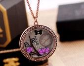 PARIS Eiffel tower rose flower rhinestone trim butterfly watch necklace gift her