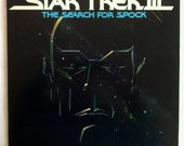 VERY RARE Star Trek III: The Search For Spock Vinyl Soundtrack 2 LPs - Very Good Condition