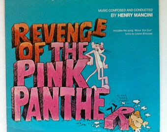 "Rare ""Revenge of the Pink Panther"" Vinyl Soundtrack Henry Mancini - Very Good Condition"