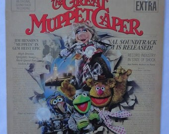 The Great Muppet Caper Vinyl Soundtrack (1981) Jim Henson Kermit the Frog Muppets