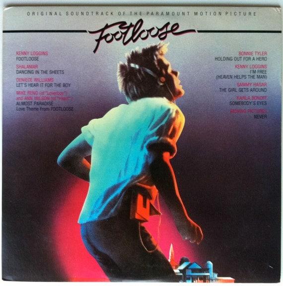 Footloose Vinyl Soundtrack LP Kevin Bacon Kenny Loggins - Very Good Condition