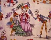 Paseo de los Muertos from Alexander Henry Fabrics dia de Los Muertos day of the dead fabric