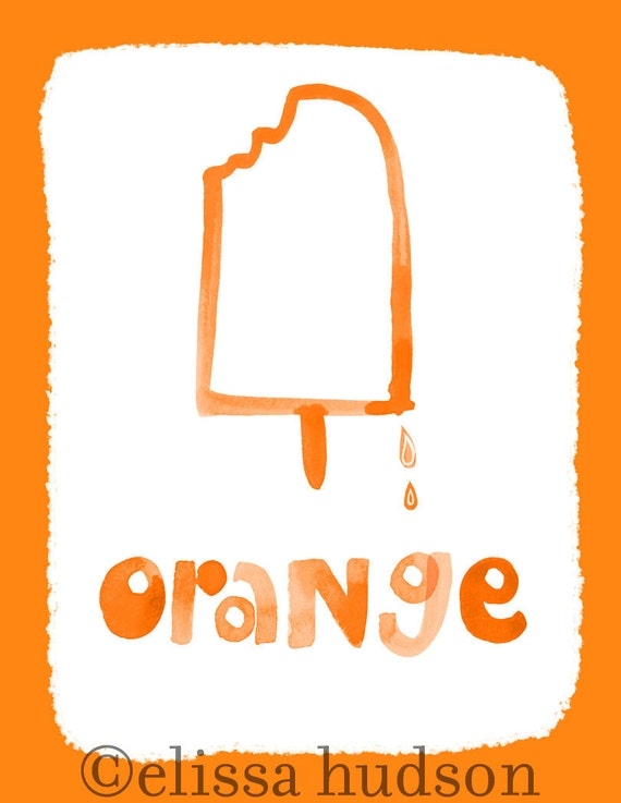 Wall Art Print Color Series- Orange