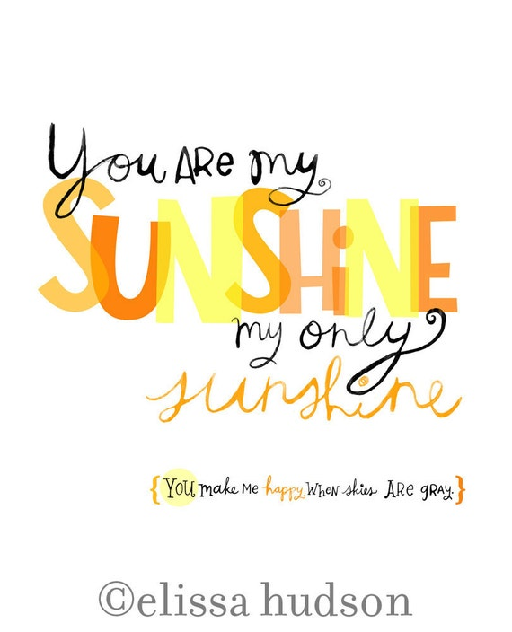 You Are My Sunshine Wall Art you are my sunshine wall art print
