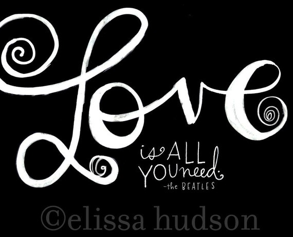 Love Is All You Need Wall Art Print