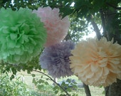 Tissue paper pom poms, paper pom, pom poms, party poms, party decorations, wedding, baby shower. 40 poms-pick your color